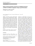 """Báo cáo hóa học: """"  Improved Electromagnetic Interference Shielding Properties of MWCNT–PMMA Composites Using Layered Structures"""""""
