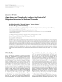 """Báo cáo hóa học: """" Research Article Algorithms and Complexity Analyses for Control of Singleton Attractors in Boolean Networks"""""""