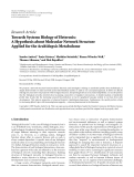 """Báo cáo hóa học: """" Research Article Towards Systems Biology of Heterosis: A Hypothesis about Molecular Network Structure """""""
