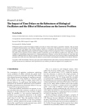"Báo cáo hóa học: "" Research Article The Impact of Time Delays on the Robustness of Biological Oscillators and the Effect of Bifurcations on the Inverse Problem"""