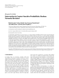 "Báo cáo hóa học: ""  Research Article Intervention in Context-Sensitive Probabilistic Boolean Networks Revisited'"