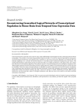"Báo cáo hóa học: "" Research Article Reconstructing Generalized Logical Networks of Transcriptional Regulation in Mouse Brain from Temporal Gene Expression Data?"""