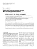 """Báo cáo hóa học: """" Research Article Stability from Structure: Metabolic Networks Are Unlike Other Biological Networks"""""""