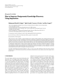 """Báo cáo hóa học: """" Research Article How to Improve Postgenomic Knowledge Discovery Using Imputation"""""""