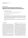"""Báo cáo hóa học: """" Research Article Real-Time Perceptual Simulation of Moving Sources: Application to the Leslie Cabinet and 3D Sound Immersion"""""""