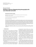 "Báo cáo hóa học: ""  Research Article Multiview Trajectory Mapping Using Homography with Lens Distortion Correction"""