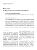 "Báo cáo hóa học: "" Research Article Complex Wavelet Transform-Based Face Recognition"""