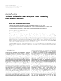 """Báo cáo hóa học: """" Research Article Scalable and Media Aware Adaptive Video Streaming over Wireless Networks"""""""