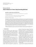 """Báo cáo hóa học: """"Research Article About Advances in Tensor Data Denoising Methods"""""""