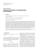 "Báo cáo hóa học: ""Research Article Sequential and Adaptive Learning Algorithms for M-Estimation"""