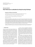"""Báo cáo hóa học: """"Research Article Near-Field Source Localization by Using Focusing Technique"""""""