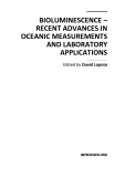 Bioluminescence Recent Advances in Oceanic Measurements and Laboratory Applications Part 1