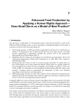 Food Production Approaches, Challenges and Tasks Part 7