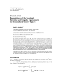 "Báo cáo hóa học: "" Research Article Boundedness of the Maximal, Potential and Singular Operators in the Generalized Morrey Spaces"""