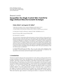 "Báo cáo hóa học: "" Research Article Inequalities for Single Crystal Tube Growth by Edge-Defined Film-Fed Growth Technique"""