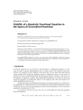 "Báo cáo hóa học: ""  Research Article Stability of a Quadratic Functional Equation in the Spaces of Generalized Functions"""