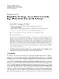 "Báo cáo hóa học: ""  Research Article Inequalities for Single Crystal Ribbon Growth by Edge-Defined Film-Fed Growth Technique"""