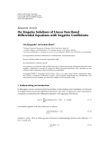 "Báo cáo hóa học: ""   Research Article On Singular Solutions of Linear Functional Differential Equations with Negative Coefficients"""