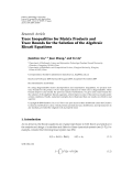 "Báo cáo hóa học: ""Research Article Trace Inequalities for Matrix Products and Trace Bounds for the Solution of the Algebraic Riccati Equations"""
