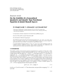 "Báo cáo hóa học: ""Research Article On the Stability of a Generalized Quadratic and Quartic Type Functional Equation in Quasi-Banach Spaces"""