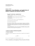 "Báo cáo hóa học: ""Review Article Refinements, Generalizations, and Applications of Jordan's Inequality and Related Problems"""