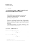 "Báo cáo hóa học: ""Research Article Generalized Bihari Type Integral Inequalities and the Corresponding Integral Equations"""