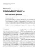 """Báo cáo hóa học: """"Research Article Extraction of Protein Interaction Data: A Comparative Analysis of Methods in Use"""""""