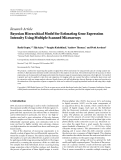 """Báo cáo hóa học: """"Research Article Bayesian Hierarchical Model for Estimating Gene Expression Intensity Using Multiple Scanned Microarrays"""""""