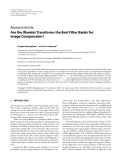"""Báo cáo hóa học: """"Research Article Are the Wavelet Transforms the Best Filter Banks for Image Compression?"""""""