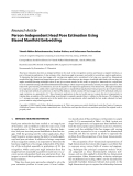 """Báo cáo hóa học: """" Research Article Person-Independent Head Pose Estimation Using Biased Manifold Embedding"""""""