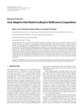 Báo cáo: Link-Adaptive Distributed Coding for Multisource Cooperation