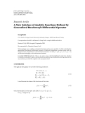 "Báo cáo hóa học: ""  Research Article A New Subclass of Analytic Functions Defined by Generalized Ruscheweyh Differential Operator"""