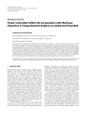 """Báo cáo hóa học: """" Research Article Power-Controlled CDMA Cell Sectorization with Multiuser Detection: A Comprehensive Analysis on Uplink and Downlink"""""""