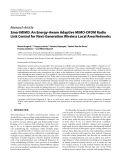 "Báo cáo hóa học: ""  Research Article SmartMIMO: An Energy-Aware Adaptive MIMO-OFDM Radio Link Control for Next-Generation """