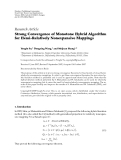 "Báo cáo hóa học: "" Research Article Strong Convergence of Monotone Hybrid Algorithm for Hemi-Relatively Nonexpansive Mappings"""