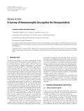 "Báo cáo hóa học: "" Review Article A Survey of Homomorphic Encryption for Nonspecialists"""