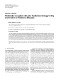 """Báo cáo hóa học: """"  Research Article Multimedia Encryption with Joint Randomized Entropy Coding and Rotation in Partitioned Bitstream"""""""