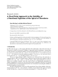 "Báo cáo hóa học: ""Research Article A Fixed Point Approach to the Stability of a Functional Equation of the Spiral of Theodorus"""