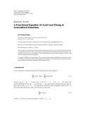 "Báo cáo hóa học: ""Research Article ´ A Functional Equation of Aczel and Chung in Generalized Functions"""