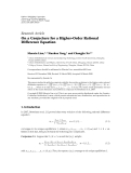 "Báo cáo hóa học: ""Research Article On a Conjecture for a Higher-Order Rational Difference Equation"""