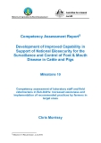 """Báo cáo nghiên cứu khoa học """" Development of Improved Capability in Support of National Biosecurity for the Surveillance and Control of Foot & Mouth Disease in Cattle and Pigs - Milestone 10 """""""