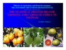 "Báo cáo nghiên cứu khoa học "" THE TECHNICAL PROCEDURES FOR GROWING AND CARING OF CITRUS IN VIETNAM """