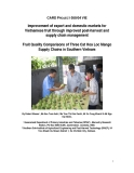 Báo cáo dự án khoa học nông nghiệp: Improvement of export and domestic markets for Vietnamese fruit through improved post-harvest and supply chain management