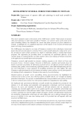 "Báo cáo nghiên cứu nông nghiệp "" Improvement of operator skills and technology in small rural sawmills in Vietnam """