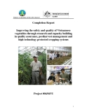 "Báo cáo nghiên cứu nông nghiệp "" Improving the safety and quality of Vietnamese vegetables through research and capacity building in quality assurance, postharvest management and high technology protected cropping systems """
