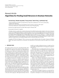 """Báo cáo hóa học: """" Research Article Algorithms for Finding Small Attractors in Boolean Networks"""""""