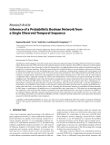 """Báo cáo hóa học: """"  Research Article Inference of a Probabilistic Boolean Network from a Single Observed Temporal Sequence"""""""