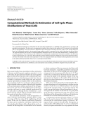 """Báo cáo hóa học: """" Research Article Computational Methods for Estimation of Cell Cycle Phase Distributions of Yeast Cells"""""""