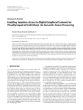 """Báo cáo hóa học: """"  Research Article Enabling Seamless Access to Digital Graphical Contents for Visually Impaired Individuals via Semantic-Aware Processing"""""""