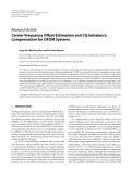 """Báo cáo hóa học: """" Research Article Carrier Frequency Offset Estimation and I/Q Imbalance Compensation for OFDM Systems"""""""